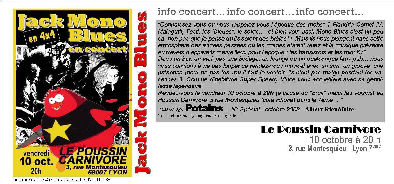 LE POUSSIN CARNIVORE  OCTOBRE 08