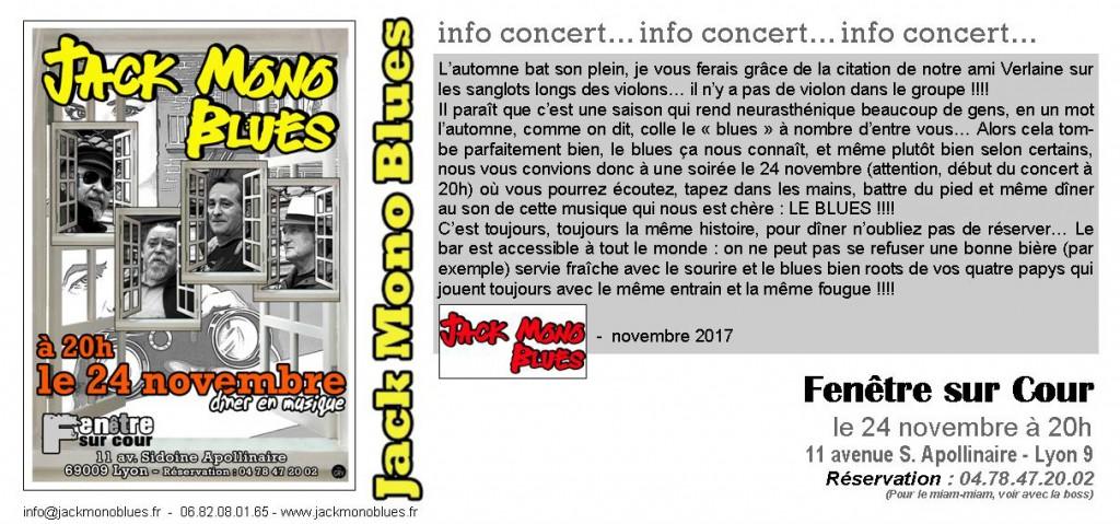 FENETRE SUR COUR invitation NOVEMBRE 2017