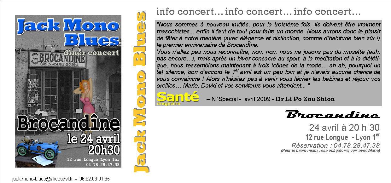 BROCANDINE INVIT avril 2009